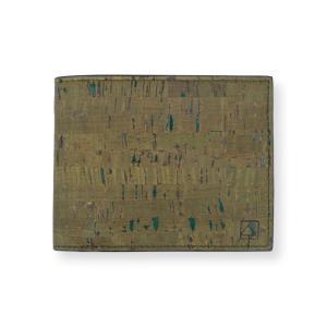二つ折り財布 Olive コルク製 小銭入れ付き|aasha-shop