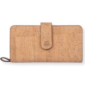 長財布 ナチュラルカラー コルク製 ビーガン 一年保証|aasha-shop