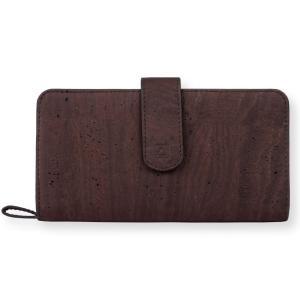 長財布 ブラウン コルク製 ビーガン 一年保証|aasha-shop