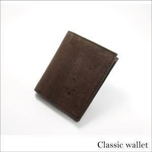 二つ折り財布 ブラウン コルク製  一年保証 aasha-shop