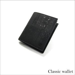 二つ折り財布 ブラック コルク製  一年保証 aasha-shop