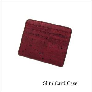 カードケース 赤 コルク製 ビーガン 一年保証 aasha-shop