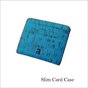 カードケース ティール コルク製 ビーガン 一年保証 aasha-shop