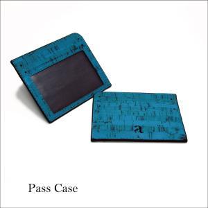パスケース ティール コルク製 ビーガン  一年保証|aasha-shop