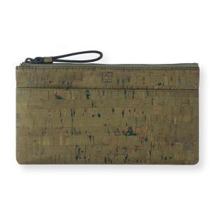 スリムポーチ財布   コルク製  一年保証|aasha-shop