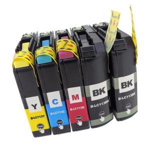 LC113-4PK (BK×2/C/M/Y) 5本セット brother 互換インクカートリッジ 残量表示 ICチップ付き ブラザー LC113