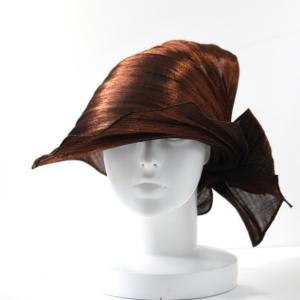 ファッションバイザー・リボン メタリック ブラウン abacastyle