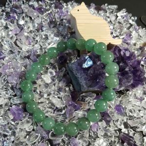 パワーストーン 数珠 誕生石  レディース 人気ブレスレット アベンチュリン インドヒスイ 翡翠