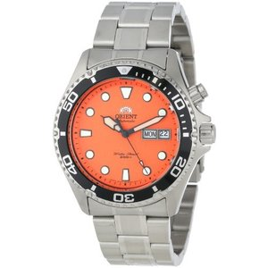 EM6500AM Orient Men's EM6500AM Ray Automatic Stainless Steel Orange Dial Watch|abareusagi-usa