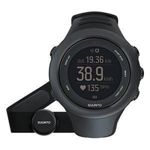 SS020678000 Suunto Ambit3 Sport Black (HR) Digital Display Quartz Watch, Black Elastomer Band, Round 50mm Case abareusagi-usa