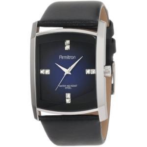20/4604DBSVBK NO SIZE Armitron Men's 204604DBSVBK Dress Swarovski Crystal Accented Silver-Tone Black Leather Strap Watch abareusagi-usa