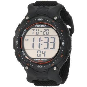 40/8159BLK Armitron Sport Men's 408159BLK Chronograph Black Strap Digital Display Watch abareusagi-usa