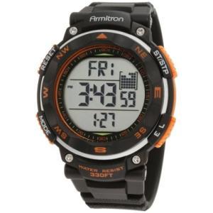 40/8254ORG NO SIZE Armitron Sport Men's 40/8254ORG Black Strap Orange Accented Digital Chronograph Watch abareusagi-usa