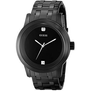 U12604G1 NS GUESS  Black Ionic Plated Genuine Diamond Dial Bracelet Watch. Color: Black (Model: U12604G1) abareusagi-usa