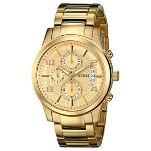 U0075G5 One Size GUESS Men's Stainless Steel Casual Bracelet Watch, Color: Gold-Tone (Model: U0075G5) abareusagi-usa