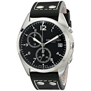 H76512733 Hamilton Men's H76512733 Khaki Aviation Analog Display Swiss Quartz Black Watch|abareusagi-usa