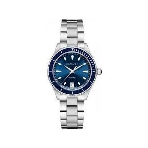 H37451141 37 MM Hamilton Jazzmaster Seaview Blue Dial Stainless Steel Ladies Watch H37451141|abareusagi-usa