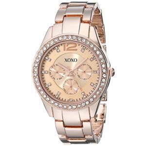 XO5477 XOXO Women's XO5477 Rose Gold-Tone Bracelet Watch abareusagi-usa