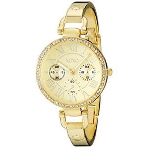 XO5756 Not Applicable XOXO Women's XO5756 Rhinestone-Accented Gold-Tone Stainless Steel Bangle Watch abareusagi-usa