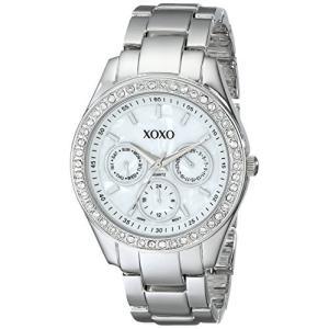 XO5301A XOXO Women's XO5301A Rhinestone-Accented Silver-Tone Bracelet Watch abareusagi-usa