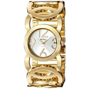 XO5211 XOXO Women's XO5211 Gold-Tone Watch with Link Bracelet abareusagi-usa