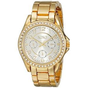 XO178 XOXO Women's XO178 Rhinestone-Accented Gold-Tone Watch abareusagi-usa