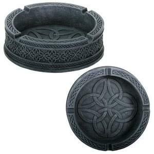 SS-Y-7668 Celtic Ashtray Smoke Collectible Tribal Decoration Statue|abareusagi-usa