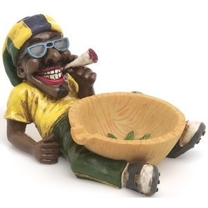 LT 46 1 X Jamaican Man Holding Ashtray|abareusagi-usa