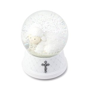 5004700139 6 x 4 DEMDACO Jesus Loves Me White Silver Toned 6 x 4 Resin Stone Musical Water Snow Globe abareusagi-usa