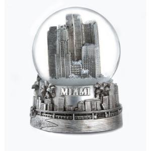 Zizo Miami Florida Silver Snow Globe 65mm abareusagi-usa