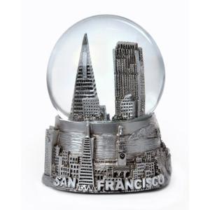 San Francisco Silver Snow Globe 65mm abareusagi-usa