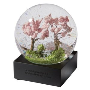 CoolSnowGlobes Spring Trees Glass Snow Globe by CoolSnowGlobes abareusagi-usa