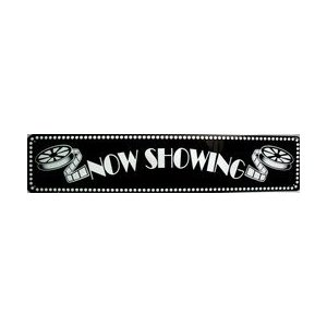 NOW SHOWING movie theatre sign home theater decor abareusagi-usa