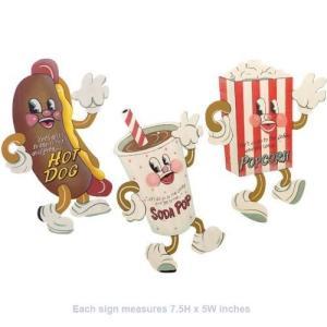 26052 7.5 X 5 inches Dancing Snacks- Set of 3 Tin Sign 7 x 5in abareusagi-usa