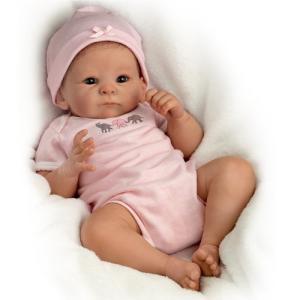 03-02004-001 The Ashton - Drake Galleries Tasha Edenholm So Truly Real Lifelike Poseable Baby Girl Doll: Little Peanut - 17