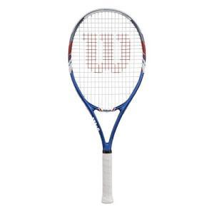 10224 4 1/4-Inch Grip Wilson US Open Strung Tennis Racquet, 4 1/4-Inch, Blue/Gray|abareusagi-usa