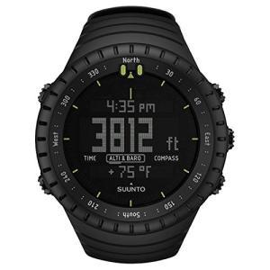 SS014279010 Suunto Core All Black Digital Display Quartz Watch, Black Elastomer Band, Round 49.1mm Case abareusagi-usa