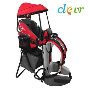 CRS600201 ClevrPlus Cross Country Baby Backpack Hiking Child Carrier Toddler Red|abareusagi-usa