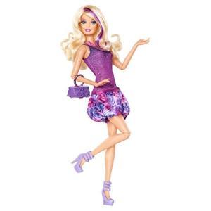 X7870 Barbie Fashionista Barbie Doll - Purple Dress|abareusagi-usa