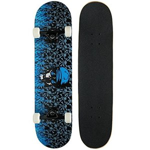 DECK Krown Pro Skateboard Complete Blue Flame 7.75 in|abareusagi-usa