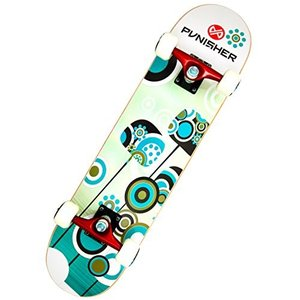 9008 31-Inch Punisher Skateboards Essence Complete 31-Inch Skateboard with Canadian Maple|abareusagi-usa
