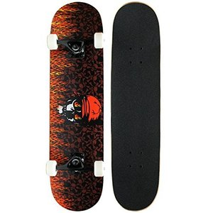 KPC-301 Krown Intro Skateboard, Red Flame|abareusagi-usa