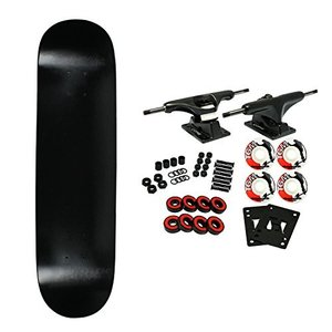 Moose Complete Skateboard DIPPED BLACK 8.5