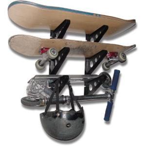 FBA_SYB-DKSkate StoreYourBoard Skateboard Rack - 3 Boards|abareusagi-usa