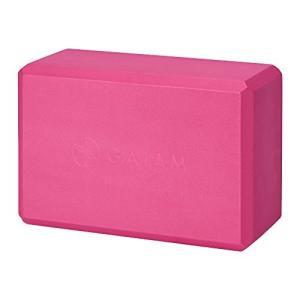 ヨガブロックGaiam Yoga Block - Supportive Latex-Free EVA Foam Soft Non-Slip Surface for Yoga, Pilates, Meditation, Fuchsia