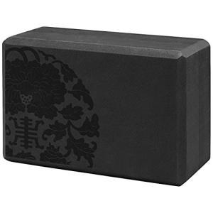 05-61629 Gaiam Sol Foam Medallion Yoga Block - Dense Latex-Free EVA Foam Non-Slip Surface for Yoga, Pilates, Meditation, Black (Pr