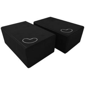 2 pcs - 3x6x9 Bean Products Black - 2 Pack - EVA Yoga Block - 3 x 6 x 9 inches
