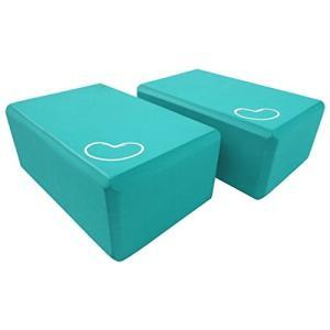 ヨガブロックBean Products Yoga Block 4 in. x 6 in. x 9 in. 2 Pack - Teal
