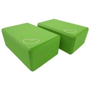 2 pcs - 3x6x9 Bean Products Green - 2 Pack - EVA Yoga Block - 3 x 6 x 9 inches