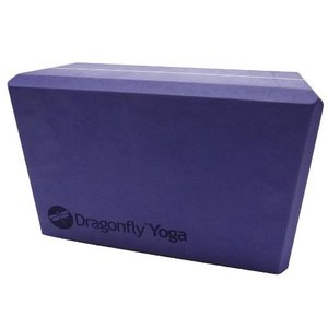 A141BLKPURS4 4-Inch Dragonfly Yoga Premium Foam Block, Purple, 4-Inch